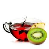 Cup of  tea with splash Stock Photos