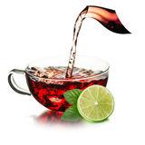 Cup of  tea with splash Royalty Free Stock Image