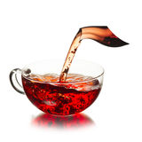 Cup of  tea with splash Stock Photography