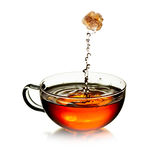 Cup of  tea with splash Stock Images