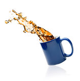 Cup of tea with splashes Stock Photo