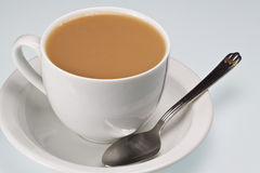 Cup of Tea with spoon Royalty Free Stock Photo