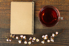 Cup of tea and a sprig Stock Image