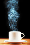 Cup of tea with steam Stock Image