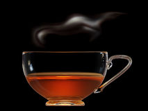 Cup of tea with steam Stock Photo