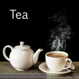 Cup of Tea with Steam Rising Royalty Free Stock Photography