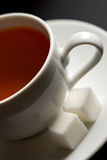Cup of tea and sugar Royalty Free Stock Image