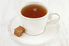 Cup of tea with sugar Royalty Free Stock Photo