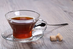 Cup with tea and sugar Stock Image