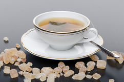 A cup of tea with sugar Royalty Free Stock Photos