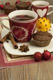 Cup of tea  with sweet muffins Stock Photo