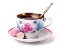 A cup of tea with sweets Stock Photo