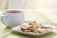 Cup of tea on the table Royalty Free Stock Photos