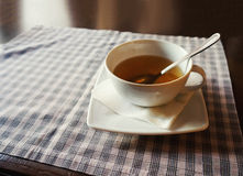 Cup of tea on a table Stock Image