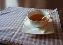 Cup of tea on a table Stock Photography