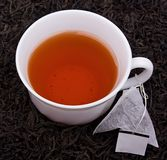 Cup of tea with tea bag Royalty Free Stock Images
