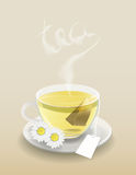 Cup of tea with tea bag royalty free stock photos