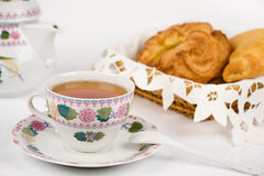 Cup of tea and tea bread Royalty Free Stock Photo