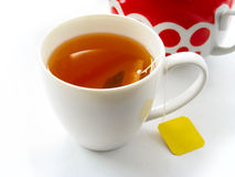 Cup of tea with teabag Stock Photography