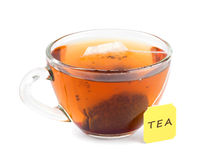 Cup of tea with teabag Royalty Free Stock Images