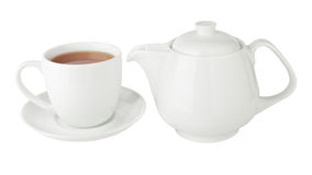 Cup of tea and teapot Royalty Free Stock Photos