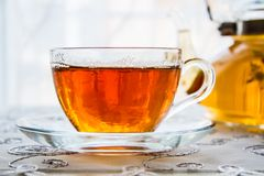 Cup of Tea and a Teapot Royalty Free Stock Photos