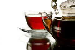 Cup of tea and the teapot Royalty Free Stock Image