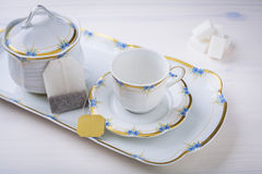 Cup of tea and teapot Royalty Free Stock Photography