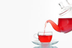 Cup of tea and teapot Stock Images