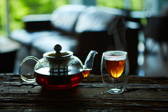 Cup Of Tea And Teapot Royalty Free Stock Image