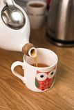 Cup of tea with teapot Royalty Free Stock Photos