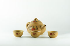 Cup of tea and teapots. Stock Photos
