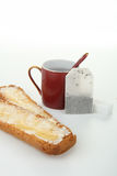 Cup of tea and toast Royalty Free Stock Photography