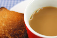 Cup of tea with toast Stock Image