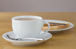 Cup of tea with toast Royalty Free Stock Image