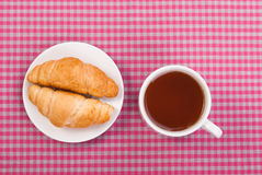 Cup of tea and two buns Royalty Free Stock Image