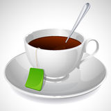 Cup of tea. Vector illustration - white cup of tea Royalty Free Stock Photo