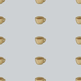 Cup of tea vector. Seamless pattern background. Royalty Free Stock Images