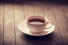 Cup of tea in vintage colour style. Stock Images