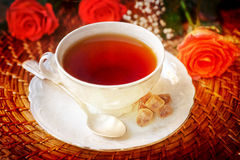 Cup of tea in vintage style Stock Image