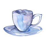 Cup of tea. Watercolor hand drawn painted illustration. Stock Image