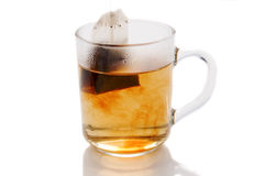 Cup of tea on white. Isolated stock photos