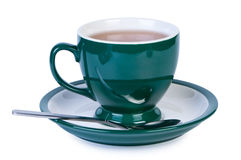 Cup tea on white background. Royalty Free Stock Photography