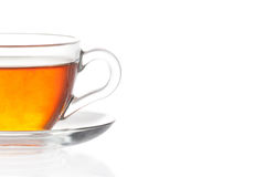 Cup of tea on white background Stock Photography