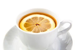 Cup of tea. On white background Royalty Free Stock Photo