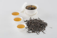 Cup of tea. White cup of tea on the white table. Tea set, Still Life, Chinese elements Stock Photography