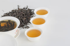 Cup of tea. White cup of tea on the white table. Tea set, Still Life, Chinese elements Royalty Free Stock Images