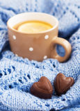 Cup of tea in the winter Stock Image