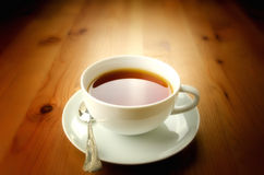 Cup of tea. On wooden background Stock Image