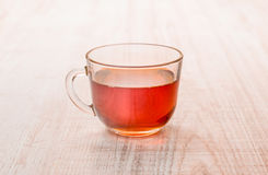 Cup of tea on wooden background Royalty Free Stock Image